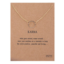Load image into Gallery viewer, Positive Vibes Only: Karma Necklace
