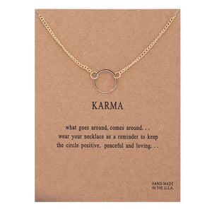 Positive Vibes Only: Karma Necklace