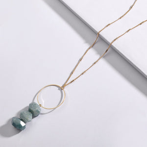 Labradorite Amazonite Energy Healing Necklace