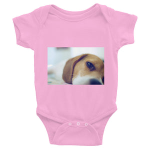 Infant Sleeping Beagle Onesie Bodysuit