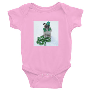 Infant St. Patrick's Day Onesie Pug Bodysuit