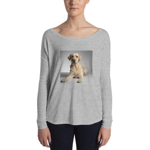 Ladies' Long Sleeve Golden Labrador Retriever Tshirt