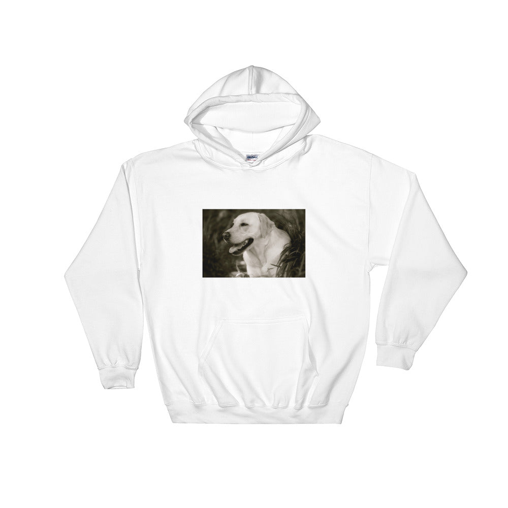 Hooded Monochrome Labrador Sweatshirt