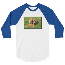 Load image into Gallery viewer, 3/4 Sleeve Outdoor Cocker Spaniel Tshirt Raglan