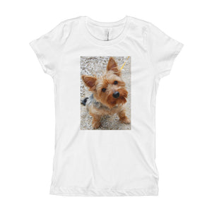 Girl's Yorkshire Terrier on the beach TShirt