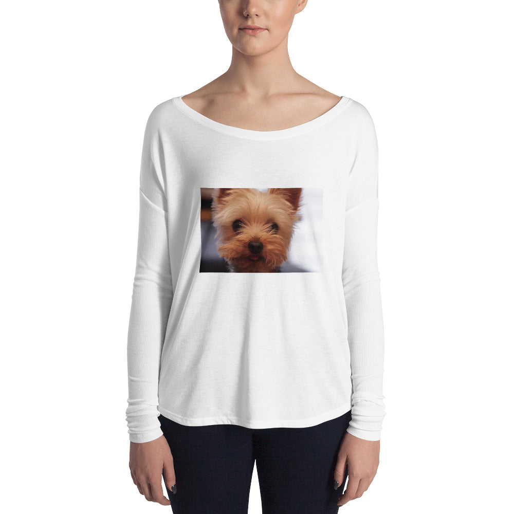 Ladies' Long Sleeve Yorkshire Terrier Tshirt