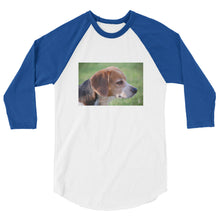 Load image into Gallery viewer, 3/4 Sleeve Outdoor Beagle Tshirt Raglan