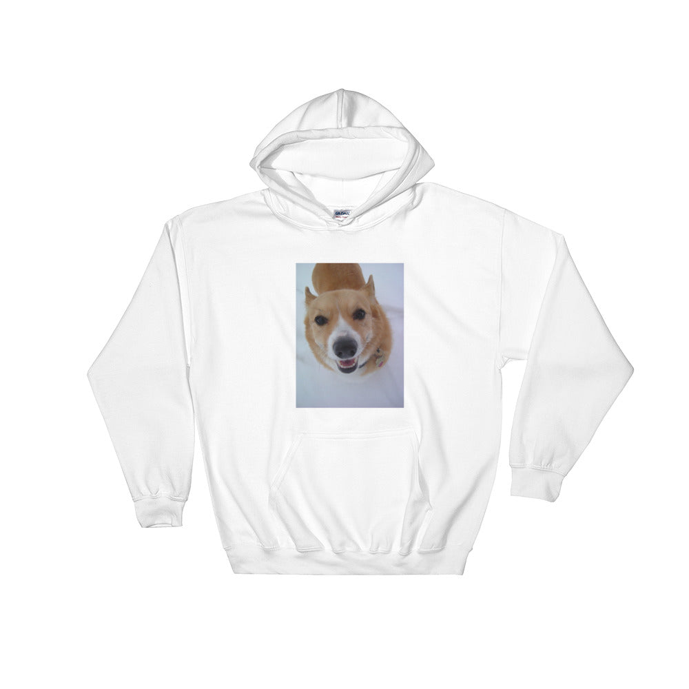 Hooded Snow Corgi Sweatshirt