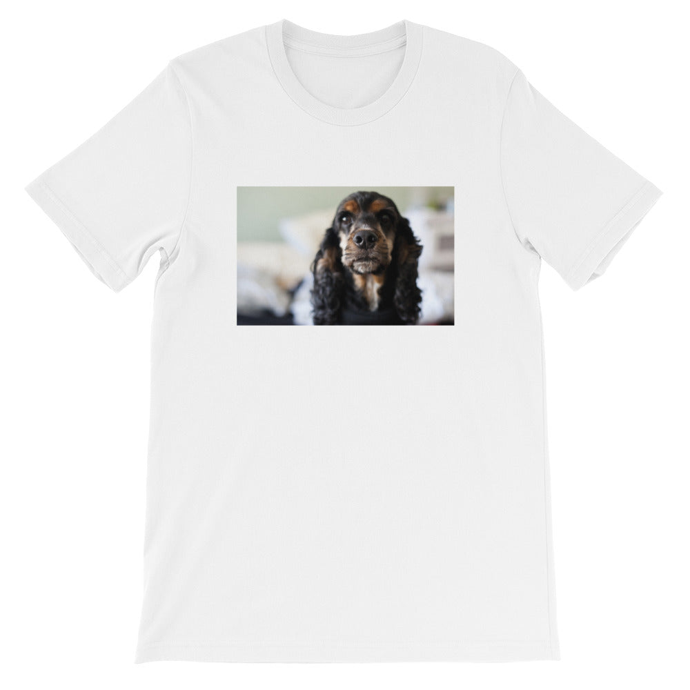 Short-Sleeve Unisex Black Cocker Spaniel Tshirt