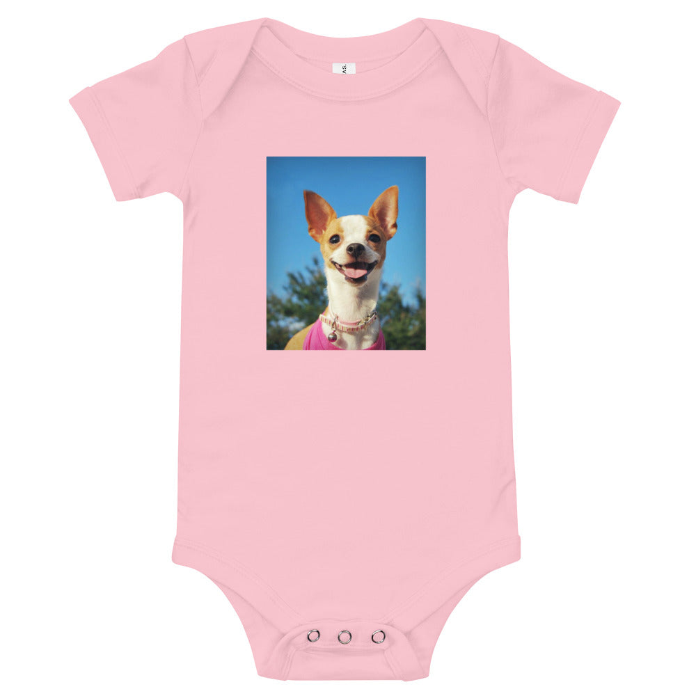 Infant Pixie Pink Chihuahua Onesie Bodysuit