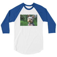 Load image into Gallery viewer, 3/4 Sleeve Outdoor Yorkshire Terrier Tshirt Raglan