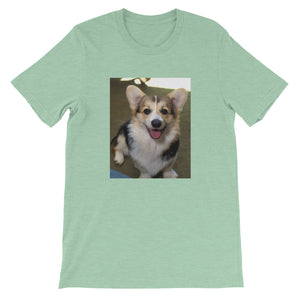 Short-Sleeve Black Corgi Unisex Tshirt