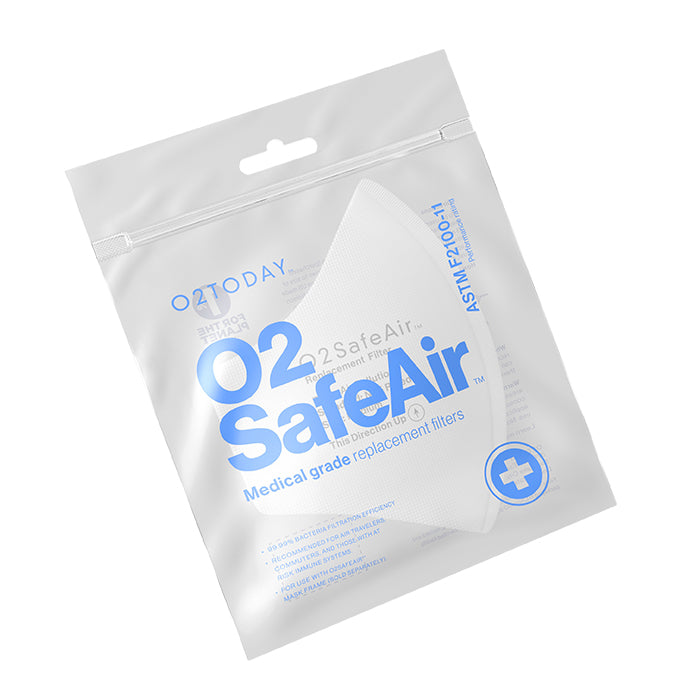 O2TODAY -  O2SafeAir, Medical grade ASTM replacement filters (5 pack)