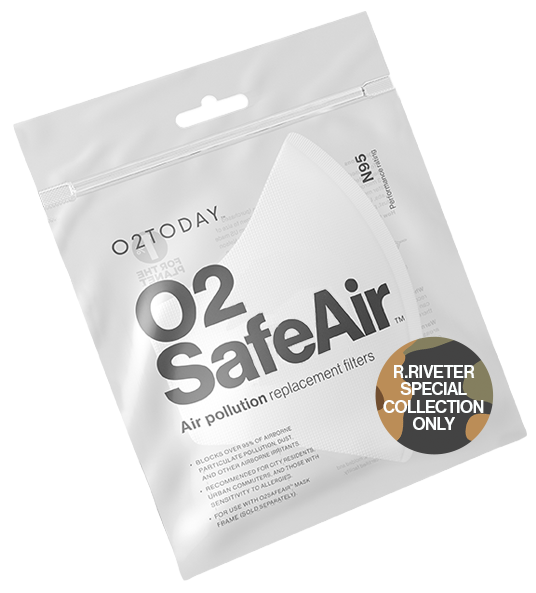 O2TODAY O2SafeAir Replacement filters R.Riveter
