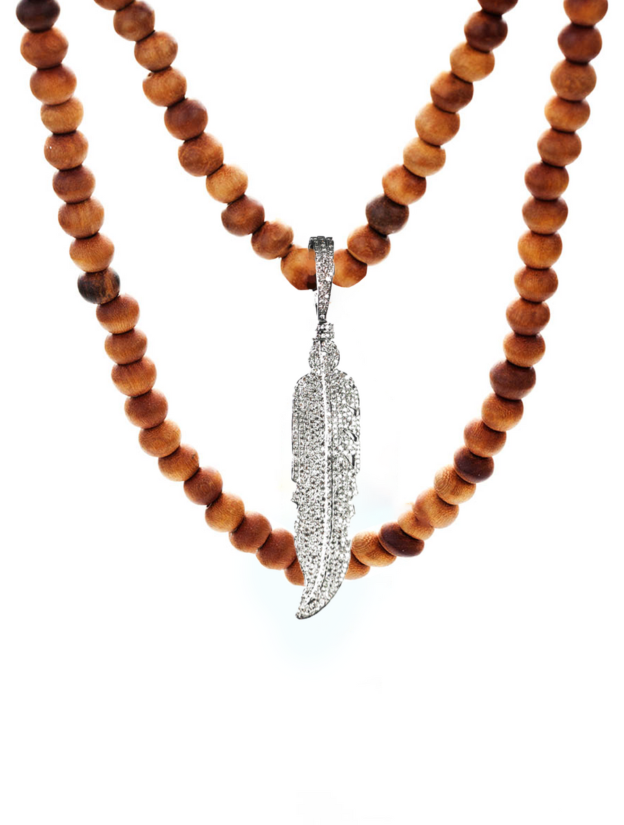The Transformation Peace Necklace - Small Feather