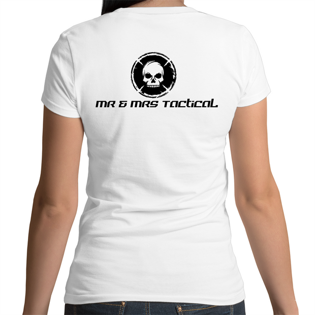 AS Colour Bevel - Womens V-Neck T-Shirt-Mr & Mrs Tactical