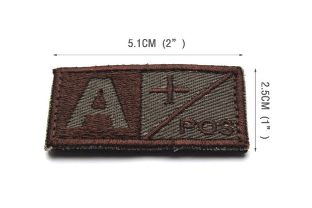 Blood Type Patches-Mr & Mrs Tactical