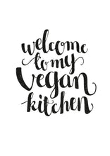 Load image into Gallery viewer, Affisch Welcome to my vegan kitchen