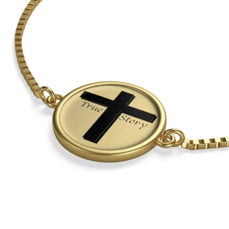 "Box Chain 18K Gold Plated  Bracelet ""God's Plan"" (3517286023268)"