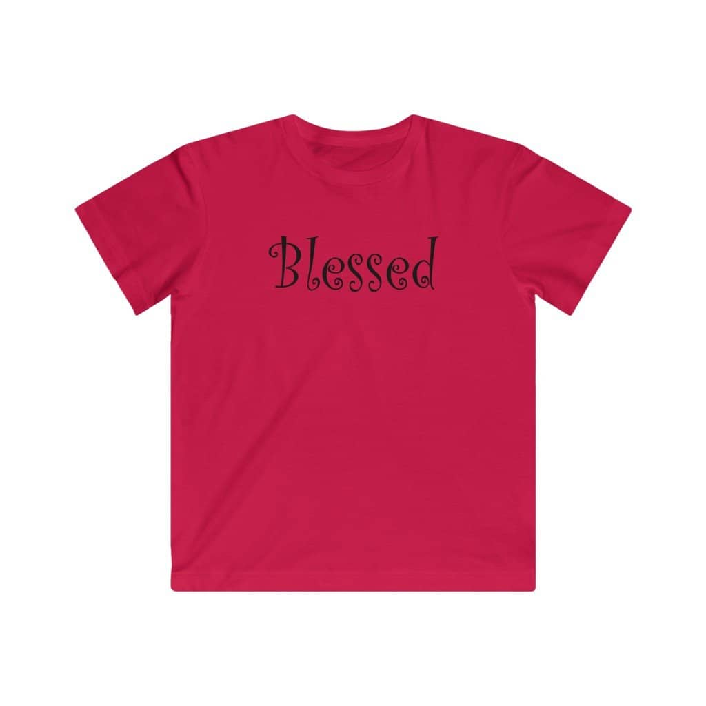"Kids LAT Apparel Tee ""Blessed"" black font (4389632114782)"