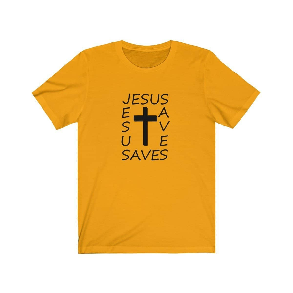 Bella & Canvas 3001 T-Shirt Jesus Saves in 14 Colors and 7 Sizes T-Shirt (3342719811684)