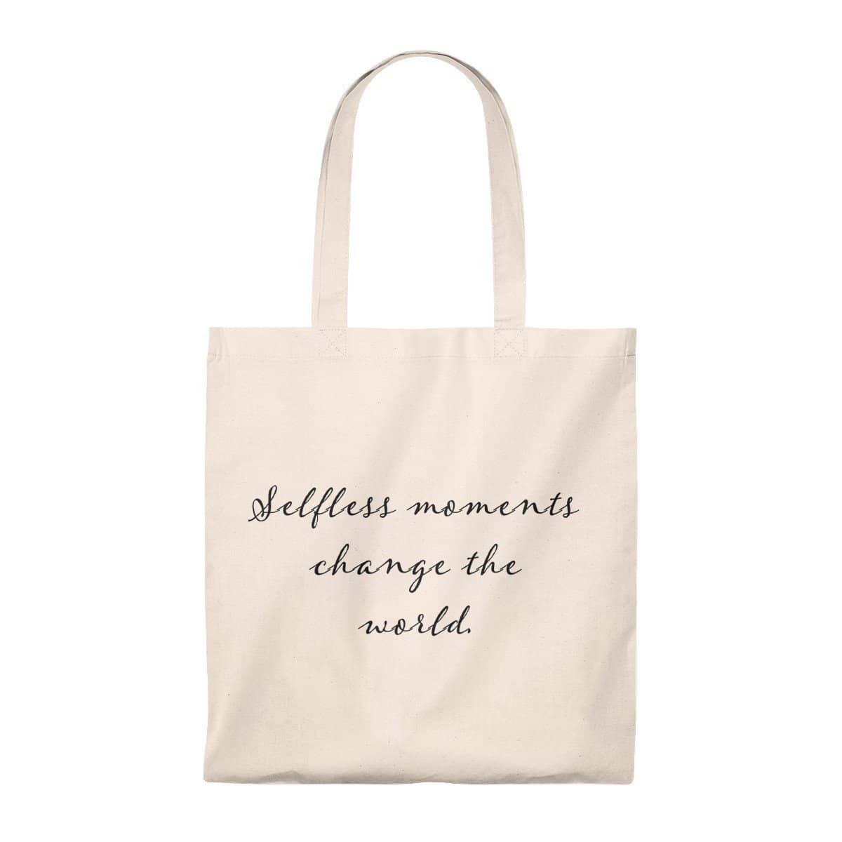 Tote Bag - Vintage- Selfless Moments Change the World Bags (3157075296356)