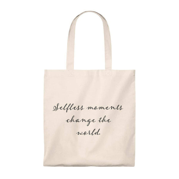 Tote Bag - Vintage- Selfless Moments Change the World Bags