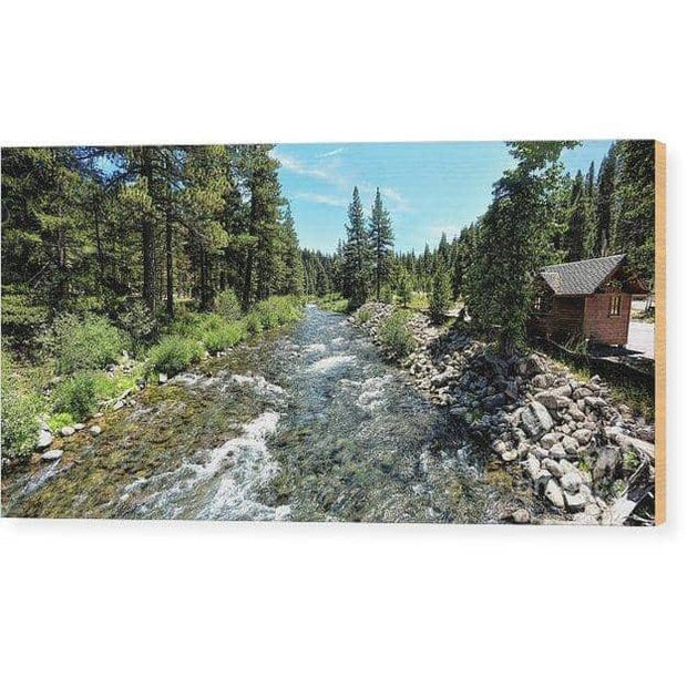 Wood Print Truckee River In Tahoe City 12.000 x 6.000 Wood Print