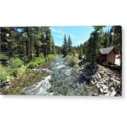 Acrylic Print Truckee River In Tahoe City 12.000 x 6.000 / Aluminum Mounting Posts Acrylic Print
