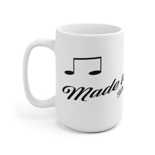 "White Ceramic Mug ""Made to Worship"" in 11 oz and 15 oz Sizes"