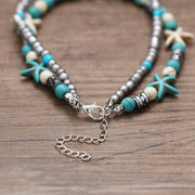 Anklet New Multi Layer Shell Beads Starfish Handmade Bohemian Jewelry Economy Shipping Anklet (2427701362788)