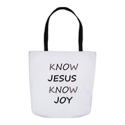 Tote Bag Know Jesus Know Joy in 3 Sizes Tote Bag