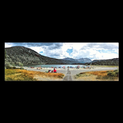 "Panoramic Canvas Wraps ""Walkway to June Lake"" available in 3 sizes"