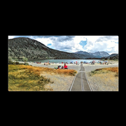 "Panoramic Canvas Wraps ""Walkway to June Lake"" available in 3 sizes (3397194154084)"