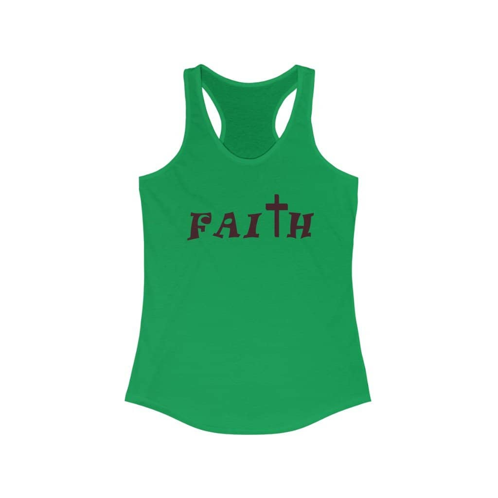 "Women's Ideal Racerback Tank ""Faith"" a.a. (6119867187392)"