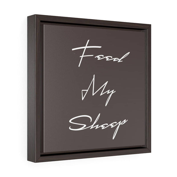 "Square Framed Premium Gallery Wrap Canvas ""Feed my Sheep"" Free Shipping"