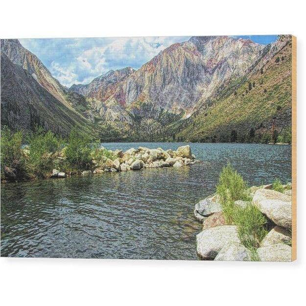 Wood Print Convict Lake Marina 12.000 x 8.000 Wood Print (2153431203940)