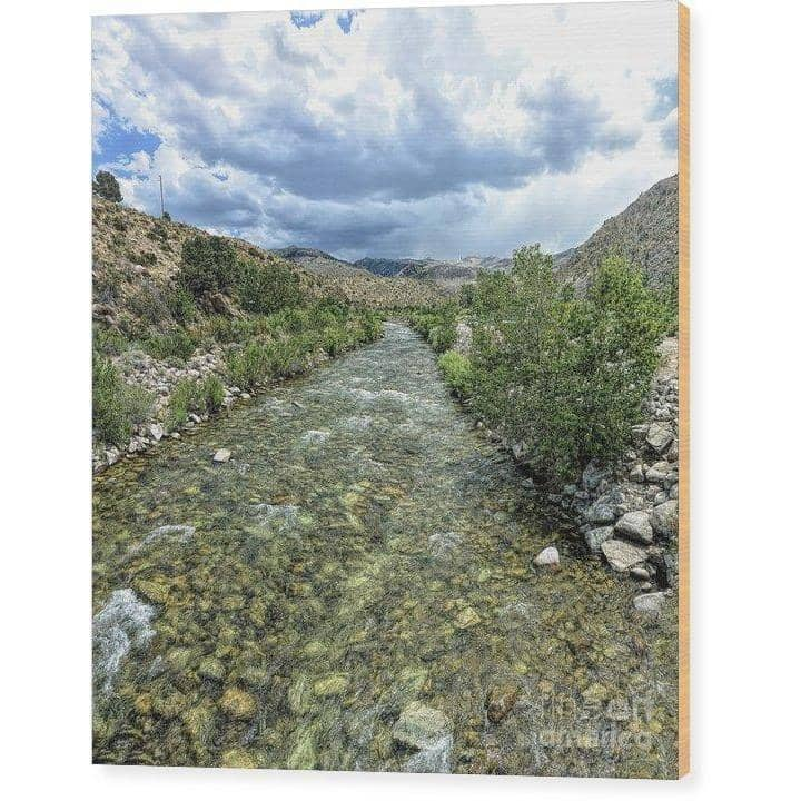 Wood Print West Walker River 7.125 x 8.000 Wood Print