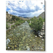 Acrylic Print West Walker River 7.125 x 8.000 / Aluminum Mounting Posts Acrylic Print