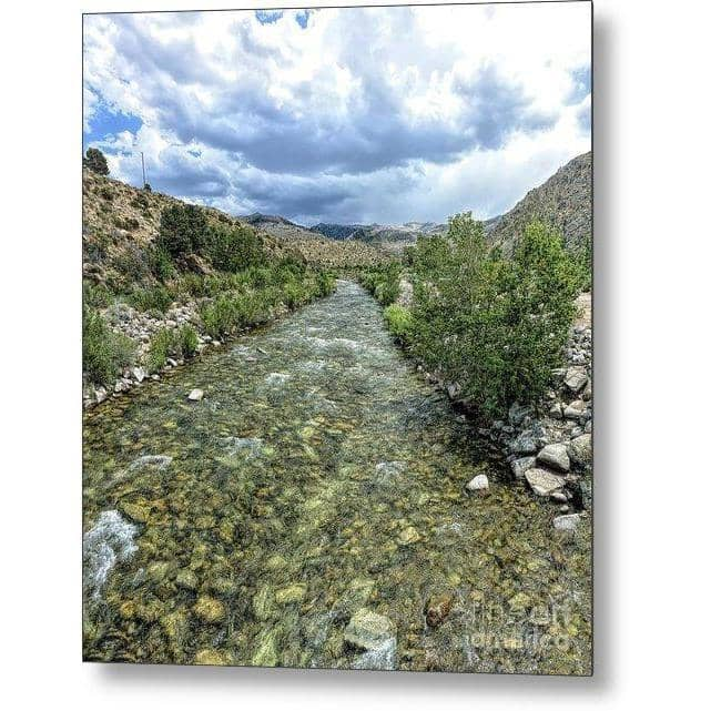 Metal Print West Walker River 7.125 x 8.000 Metal Print