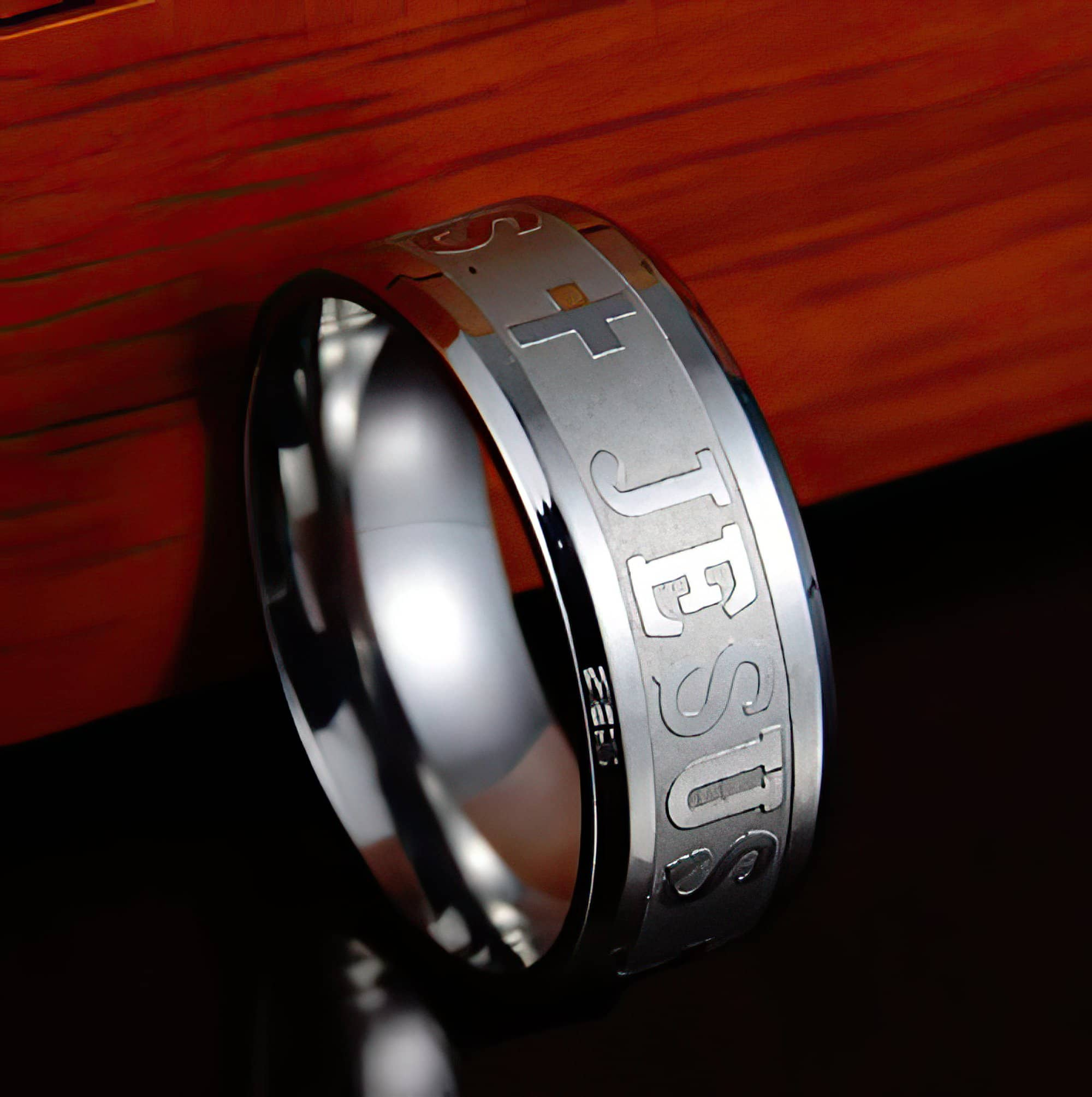 Jesus Stainless Steel Rings in 5 Styles Ships Free from the USA (3940338565214)