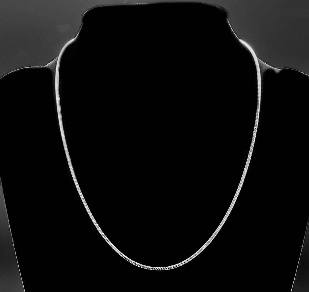 925 Tagged Sterling Silver Plated Snake Chain Necklace 2MM 16-24 inch (4730160382046)