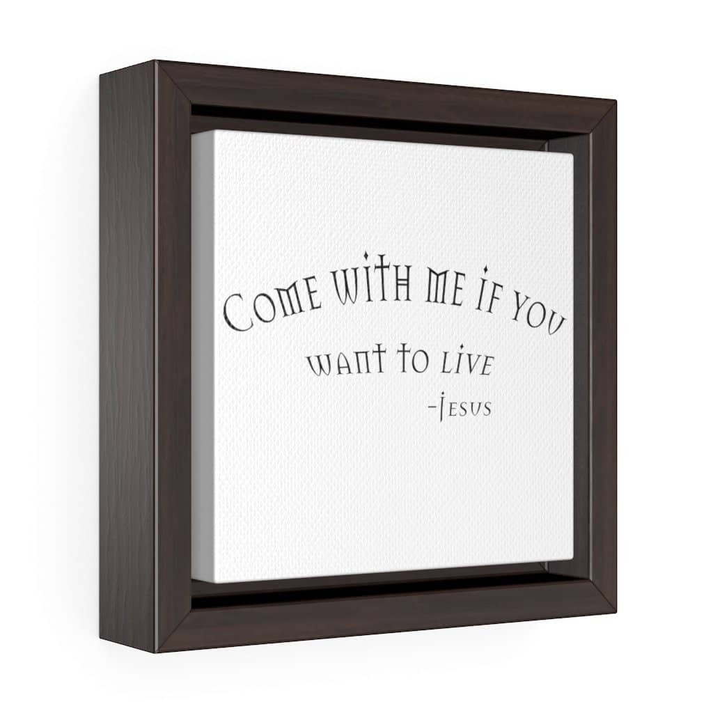 "Square Framed Premium Gallery Wrap Canvas ""Come with Me"" (6078462394560)"