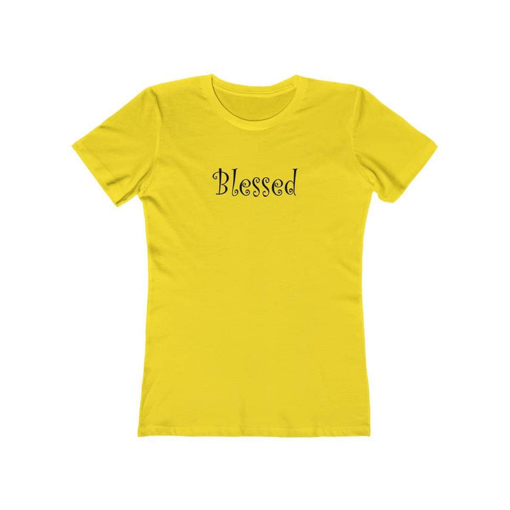 "Next Level The Boyfriend Tee Black Graphic ""Blessed"" in 15 Colors and 7 Sizes"