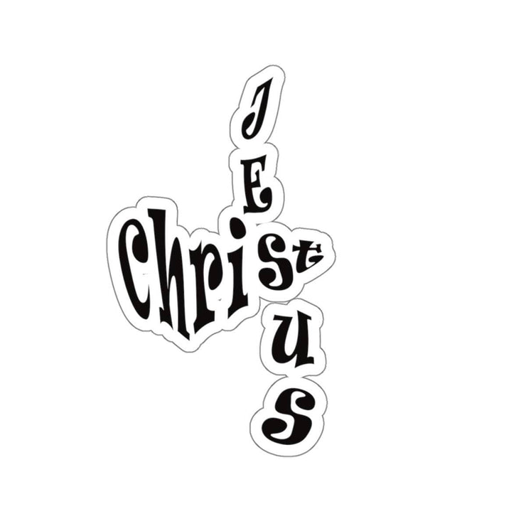 "Kiss-Cut Stickers ""Jesus Christ"" in Transparent or White in 4 Sizes"