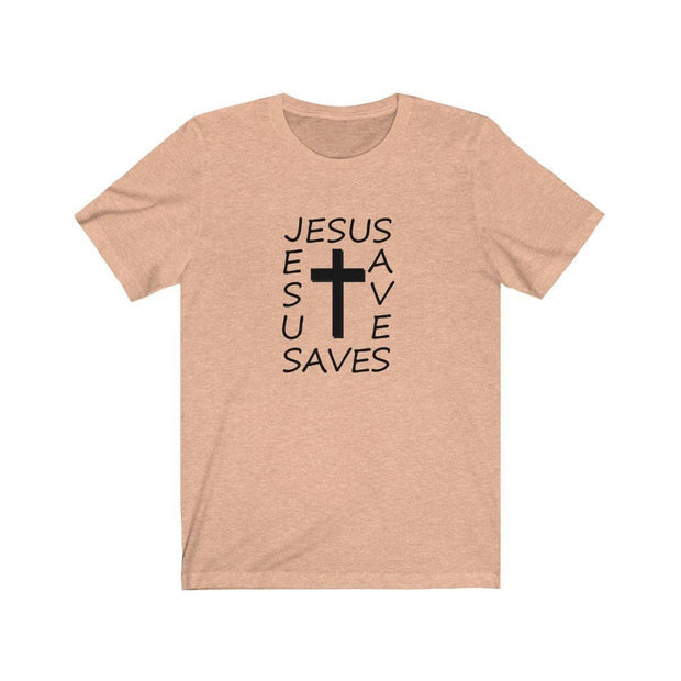 Bella & Canvas 3001 T-Shirt Jesus Saves in 14 Colors and 7 Sizes T-Shirt