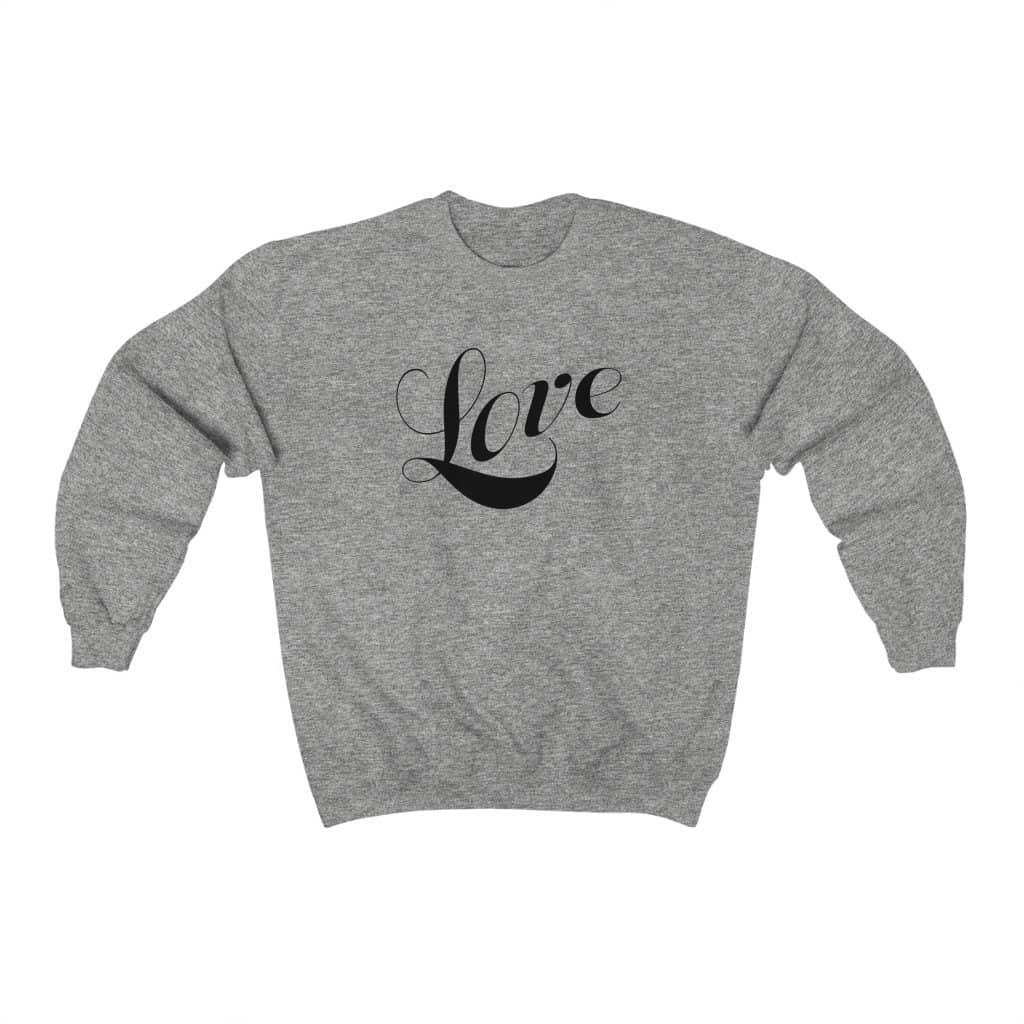 "Heavy Blend™ Crewneck Sweatshirt ""Love"" (4752220880990)"