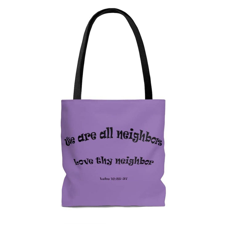 "AOP Tote Bag "" Neighbors"" in 3 Sizes (4639395446878)"