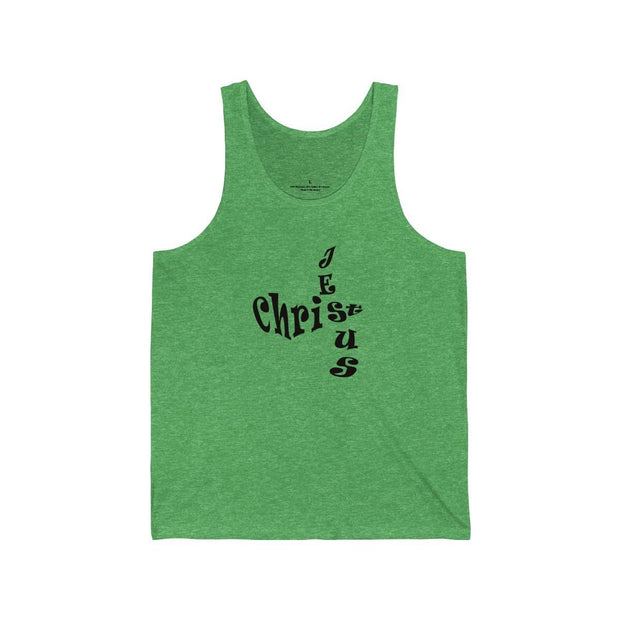 "Bella & Canvas 3480 Jersey Tank ""Jesus Christ"" in 17 Colors and 6 Sizes"