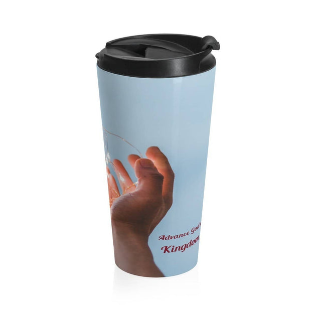 Stainless Steel Travel Mug Be Gods Hands Mug